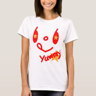 「yummy!」smile face tシャツ