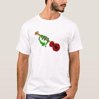 YY-ヘビおよびギターの漫画 Tシャツ