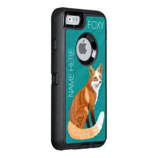 Zのアカギツネのレトロのスタイルiphone6のかわいいずるい名前を加えます オッターボックスディフェンダーiPhoneケース