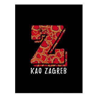 Zのkaoのザグレブのクロアチアの郵便はがき はがき