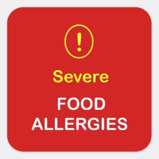 z8 -厳しい食物アレルギー スクエアシール