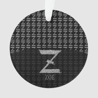 Z - Falckのアルファベット(銀色の) オーナメント