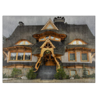 Zakopaneの木のポーランドの家 カッティングボード