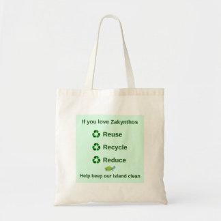 Zakynthosのエコバッグ-島をきれい保って下さい トートバッグ