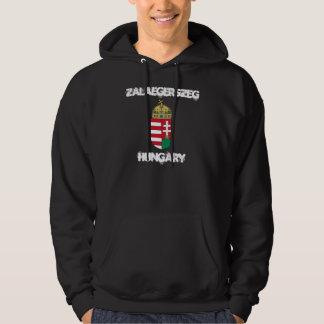 Zalaegerszeg、紋章付き外衣が付いているハンガリー パーカ