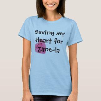 Zane la Shirthのための私のハートを救うこと Tシャツ