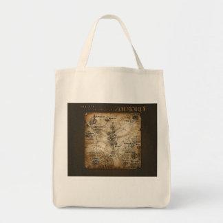 Zantarniの地図のトート トートバッグ