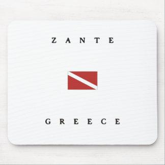 Zanteギリシャのスキューバ飛び込みの旗 マウスパッド