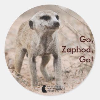 、Zaphodは行きましたり、行きます! -ステッカー ラウンドシール