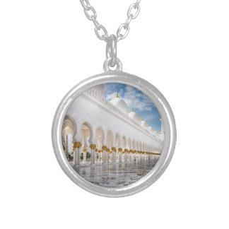 Zayed教主のモスク シルバープレートネックレス