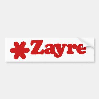 Zayreのバンパーステッカー バンパーステッカー
