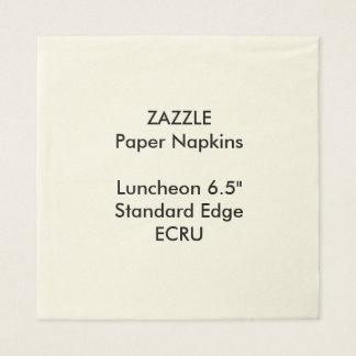 ZAZZLEのカスタムで大きいベージュ色の昼食会の紙ナプキン スタンダードランチョンナプキン