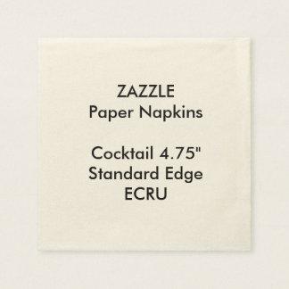 ZAZZLEのカスタムで小さいベージュ色のカクテルの紙ナプキン スタンダードカクテルナプキン