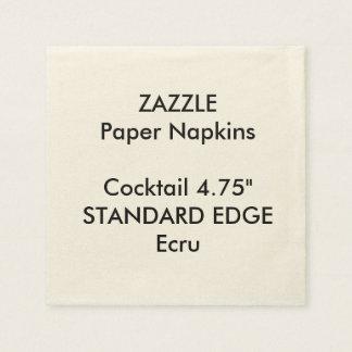 ZAZZLEのカスタムで明白な端のカクテルの紙ナプキン スタンダードカクテルナプキン