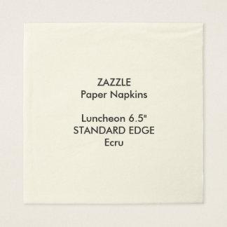 ZAZZLEのカスタムで明白な端の昼食会の紙ナプキン スタンダードランチョンナプキン