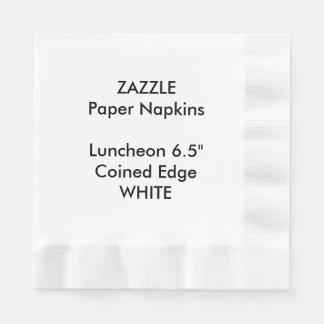 ZAZZLEのカスタムな白によって鋳造される昼食会の紙ナプキン 縁ありランチョンナプキン