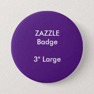 ZAZZLEのカスタムは3つを大きい円形のバッジ印刷しました 缶バッジ