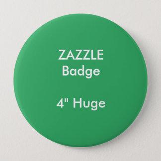 ZAZZLEのカスタムは4つを巨大な円形のバッジの緑印刷しました 缶バッジ