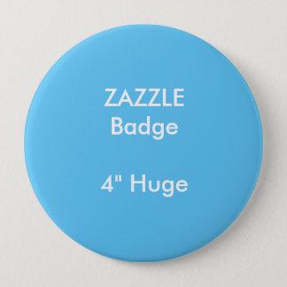 ZAZZLEのカスタムは4つを巨大な円形のバッジの青印刷しました 缶バッジ