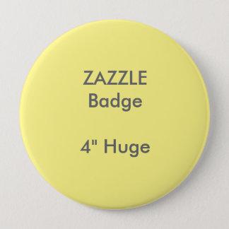 ZAZZLEのカスタムは4つを巨大な円形のバッジの黄色印刷しました 缶バッジ