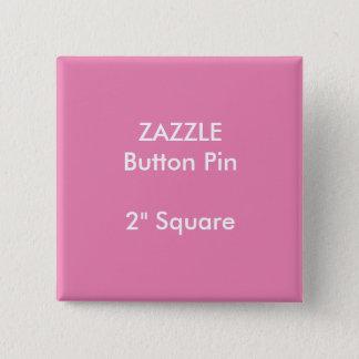 """ZAZZLEのカスタム2""""正方形ボタンPinのピンク 缶バッジ"""