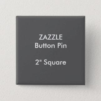 """ZAZZLEのカスタム2""""正方形ボタンPinの灰色 缶バッジ"""