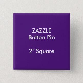 """ZAZZLEのカスタム2""""正方形ボタンPinの紫色 缶バッジ"""