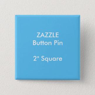 """ZAZZLEのカスタム2""""正方形ボタンPinの青 缶バッジ"""