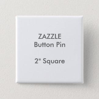 """ZAZZLEのカスタム2""""正方形ボタンPin 缶バッジ"""