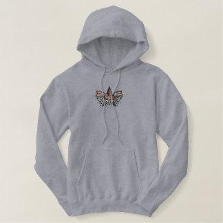 Zazzleのフード付きスウェットシャツによって作られる 刺繍入りパーカ