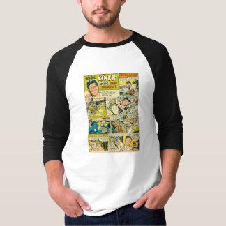 ZazzleのワイシャツのラーフKINERの野球1952の漫画のページ Tシャツ