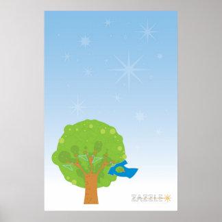 Zazzleの木ポスター ポスター
