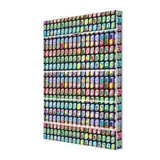 Zazzleの販売の抽象芸術のマイクロ美術のキャンバスのギフト キャンバスプリント