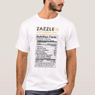 Zazzle栄養情報のTシャツ Tシャツ