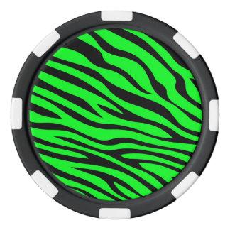 Zebbraのストライプの緑 ポーカーチップ