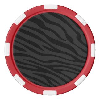 Zebbraのストライプの黒一色 ポーカーチップ