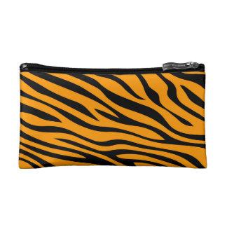 Zebbraはオレンジを縞で飾ります コスメティックバッグ