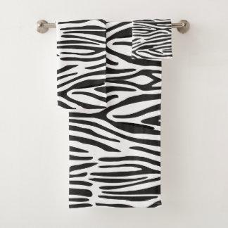 Zebra Print Bathroom Towel Set バスタオルセット