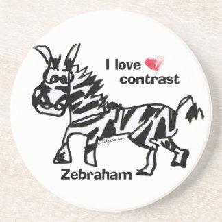 Zebraham- I愛コントラスト コースター