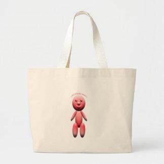 zeeのピンクの人 ラージトートバッグ
