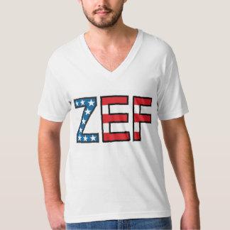 ZEFの醜い男の子のV首 Tシャツ