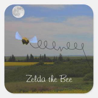 Zelda蜂のステッカー 正方形シール