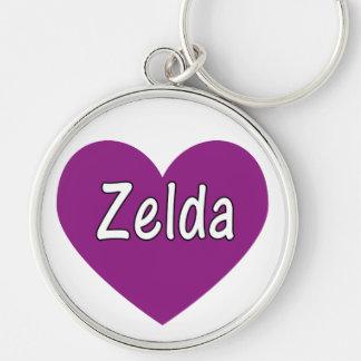 Zelda シルバーカラー丸型キーホルダー