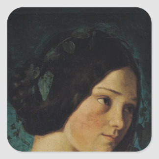 Zelie Courbet、c.1842のポートレート スクエアシール