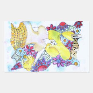 Zendoodleの芸術メリー 長方形シール