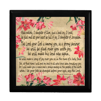 Zephaniah 3の聖なる書物、経典の原稿花のギフト用の箱 ギフトボックス