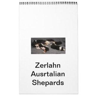 Zerlahnのオーストラリアのシェパードは         あなたのCaleを示します カレンダー