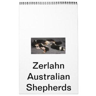 Zerlahnのオーストラリア人のシェパード カレンダー