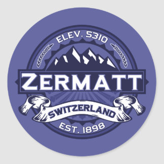 Zermattのロゴの真夜中 ラウンドシール