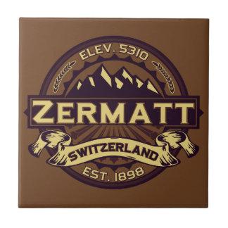 Zermattのロゴ タイル
